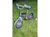 'Universal' BMX bike, 9 inch wheels, suitable for child 4-6 years old