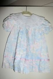 Girls PIC.UP.STIX Dress with Broderie Anglaise Collar, age approx 3 - 4 Years, vgc, Histon