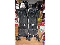 Silver Cross Pop Duo Double Stroller Pushchair with raincover