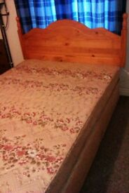 Double Bed for sale with Headboard-needs to go ASAP!
