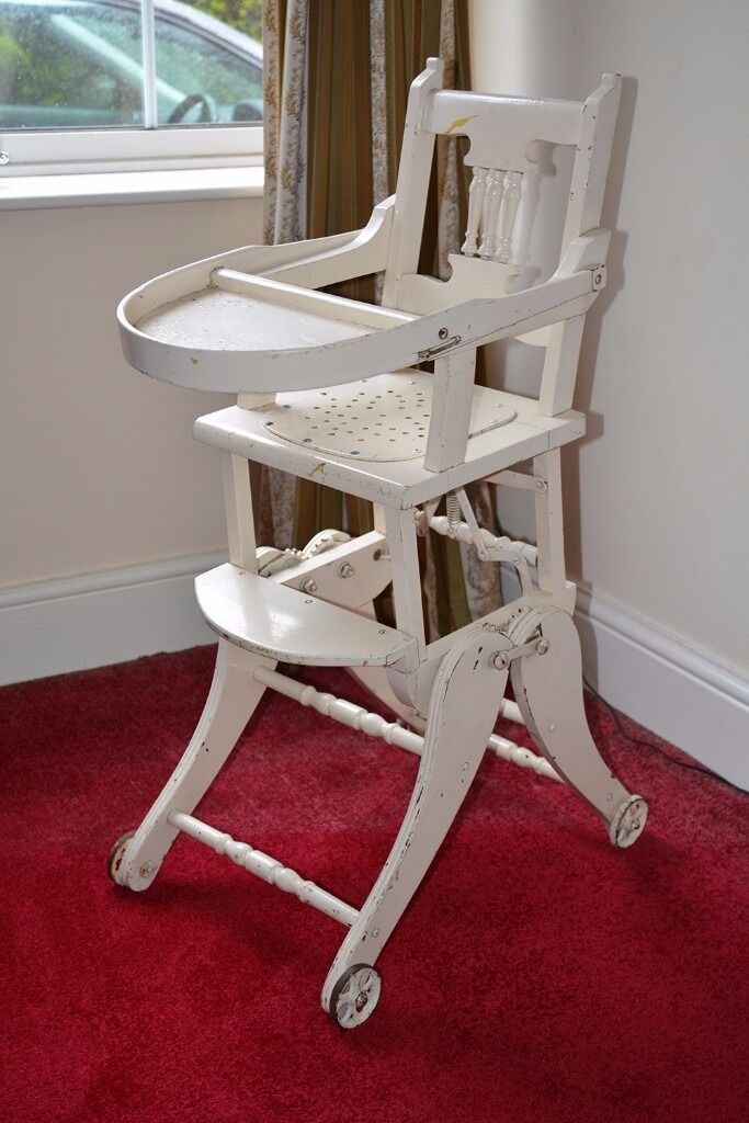 Antique Victorian/Georgian child's metamorphic high chair/rocker, shop  display. dolls chair - Antique High Chair Rocker Antique Furniture