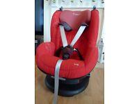Maxi Cosi Tobi toddler car seat, group 1 - red