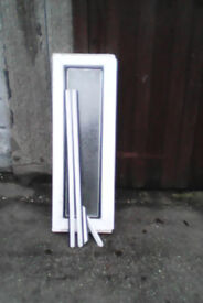 White small upvc window for sale with obscure glass