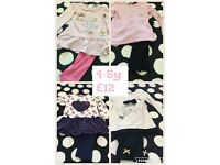 4 x girls outfits 4-5y