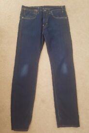 Mens slim leg Levi jeans 34 x 34