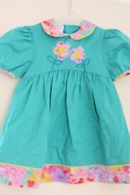 Girls / Toddlers Attractive Dress with Applique on Bodice, age approx 12 - 18 Months, Histon