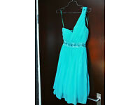 Jane Norman - Dress (Turquoise Blue with Detail)- Size 8
