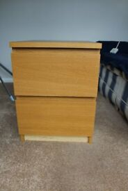 IKEA - two drawer bedside or filing cabinet