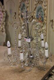 Antique glass chandelier