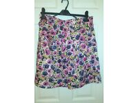 floral size 14 skirt with bow detail new