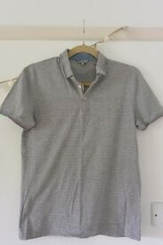 Ted Baker grey short sleeved polo shirt
