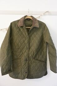 Barbour BORDER® quilted green jacket