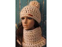 women hats beanie with pompom handmade soft comfy yarn