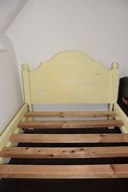 Decorated children's bed