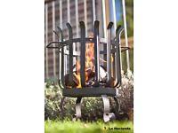 La Hacienda QUEBEC Firebasket pit Patio Heater Garden wood burner 34cm diameter 54cm H BARGAIN £20