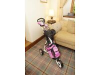 Callaway XJ Junior Golf Clubs & Trolley