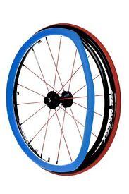RehaDesign Ultra-Grrrip Wheelchair Push Rim Covers ( Blue ) PAIR
