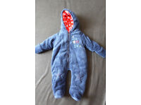 Boys snowsuit 0-3 mths used once