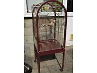 Medium domed parrot cage with free small bird cage