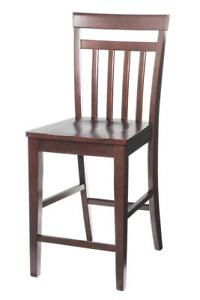Two Sturdy Dining Chairs Counter Height In Mahogany