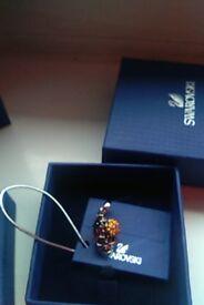 Blue crystal bracelet and skull charm