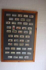 Framed original Wills cigarette cards