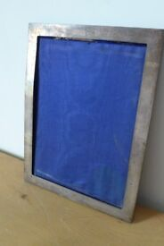 Vintage, tarnished metal, free-standing / easel picture / photo frame.