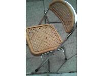Toddler or Doll rattan foldaway mini chair.