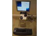"Windows 10 Desktop PC, Intel Quad Core i5 760 CPU, 7GB RAM, 17"" LCD, Microsoft keyboard and mouse"