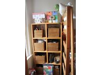 Solid wood John Lewis box shelving unit