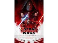 2 x Tickets to Star Wars: Last Jedi Midnight Premiere Vue Cinema Piccadilly London Row C