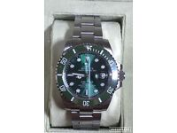 Rolex submariner oyster HULK GREEN 40mm BRUSH STEEL luxury automatic diver watch new in Swiss box