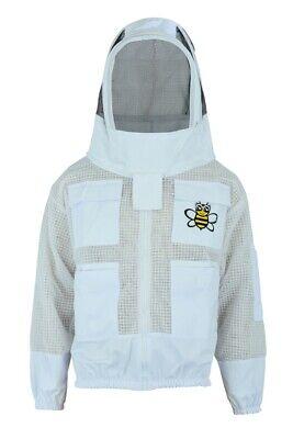 Beekeepers Beekeeping 3 Layers Ultra Ventilated Bee Jacket Fencing Veil Large