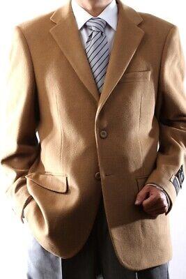 Mens Two Button Lamb Wool Cashmere Camel Sport Coat, J400912S-400934 Cashmere Mens Sport Coat
