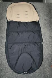 Mamas and Papas Cold Weather footmuff - navy blue / beige CAN POST