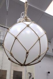 NEW DESIGNER ZERO LIGHTING Mattias Stahlbom 65 CMS NEW LARGE WHITE GLOBE LIGHT COST £1150 EACH