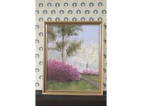 Landscape Painting by M. Wheeler in Gilt Frame
