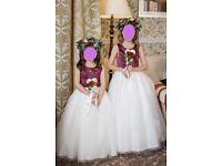 Wedding flowergirl/bridesmaid dresses by designer Amanda Wyatt
