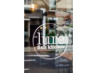 chef de partie , lure fish kitchen, kentish town, starting salary £10.50 per hour