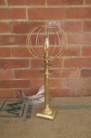 Industrial Style, Copper Pipe, Antique Oak, Steam Punk, Bedside Table Lamp