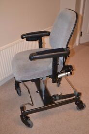 Disability Work Chair with electric riser/tilt