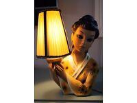 Vintage kitsch Tretchikoff style Oriental Lady Lamp