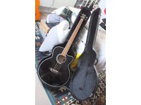 Legacy electro acoustic bass guitar with case