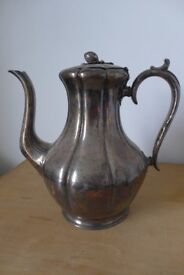 Vintage Charm: Antique Victorian Electro-plated Coffee Pot by Thomas Otley & Sons of Sheffield.