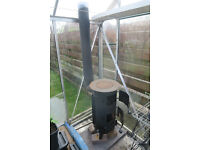 Wood and coal burner, Shed or Greenhouse Heater