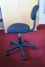 Junior office chair, black cloth finish