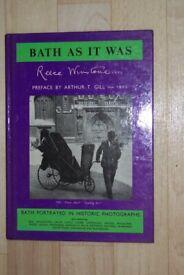 BATH AS IT WAS, REECE WINSTONE, HARD BACK, 1980 1ST ED, SIGNED COPY