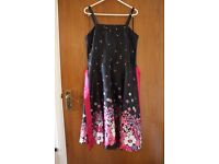 Red Herring Girls Strapped Dress Size 15 Flower Party Wedding Prom