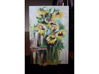 Beautiful Sunflower Painting