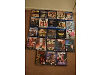 15 Bluray & 30 DVD movies personal collection job lot bulk Bargain!